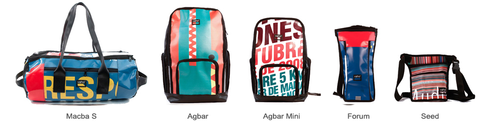 mochilas hechas a mano urbanas